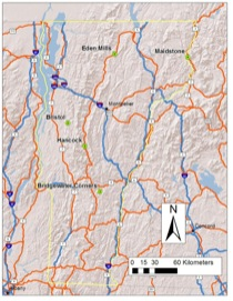 Site Map of Vermont Alluvial Fans