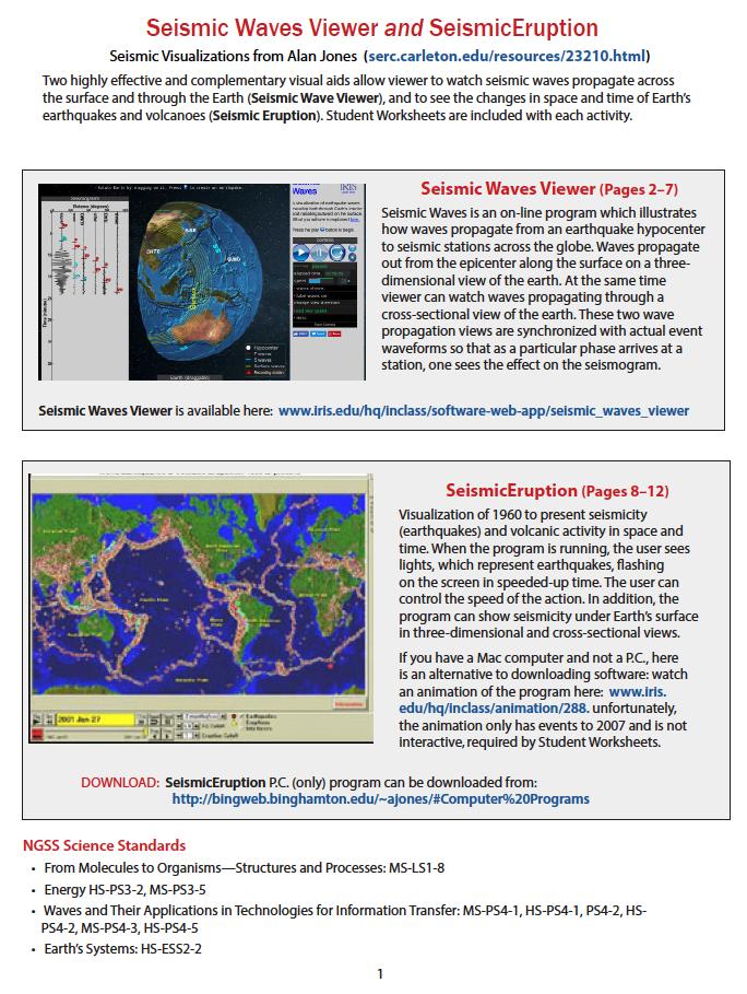 SeismicWaves Viewer & SeismicEruption Software