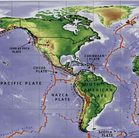 World Map of Plate Boundaries