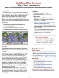 Plate Boundaries activity page 1 preview