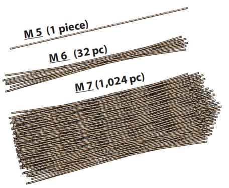 Strands of uncooked pasta model relative earthquake magnitude.