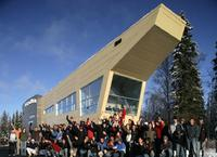 ANSEP Building and students