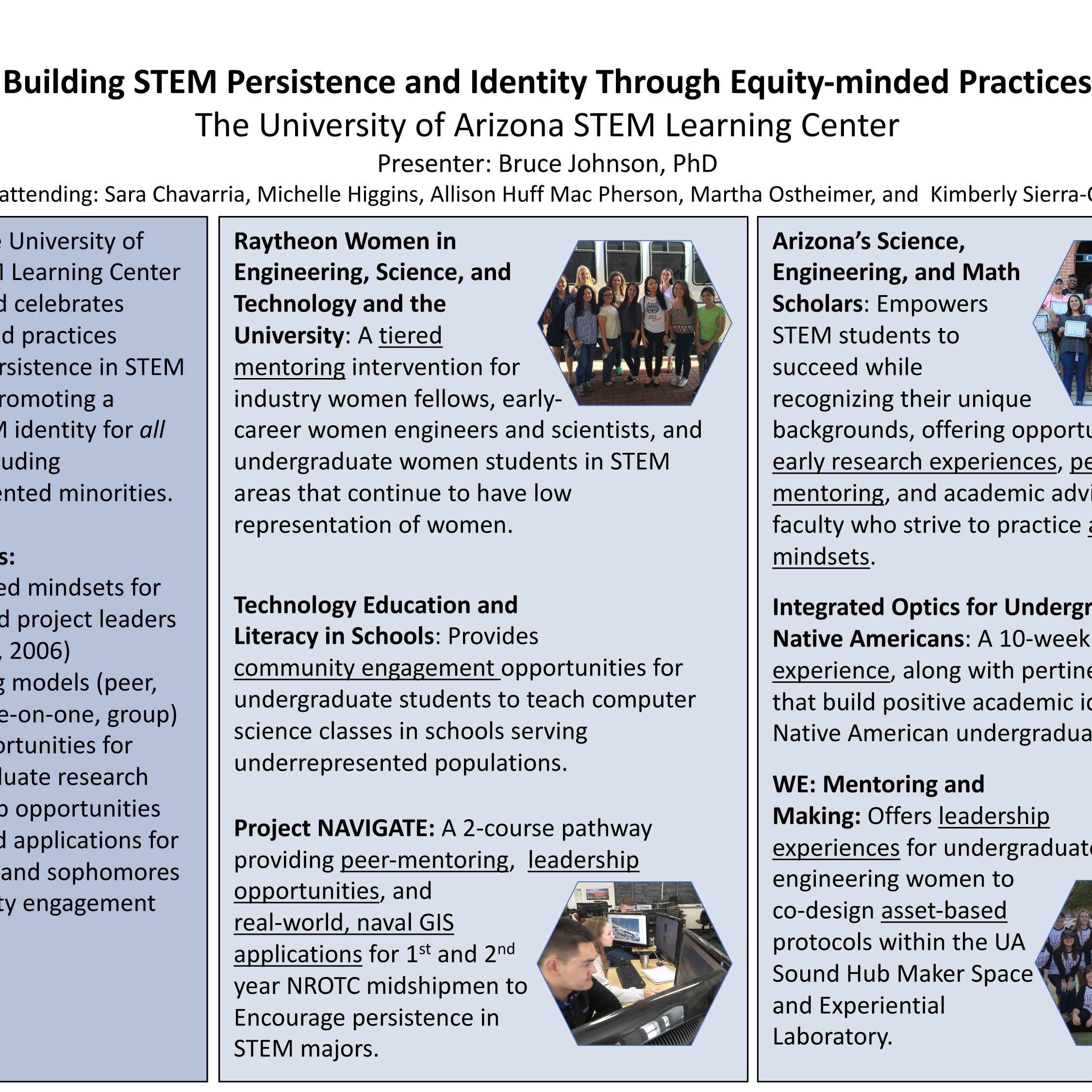 Building STEM Persistence and Identity Through Equity-minded Practices