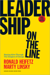 Cover of the book Leadership on the Line.