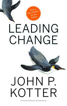 the cover of the book, Leading Change