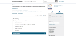 Screenshot of Wiley online library page