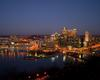 Pittsburgh, PA at night