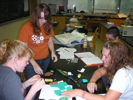 Undergraduate students in lab