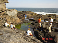 Geology class at Two Lights State Park, Portland, ME