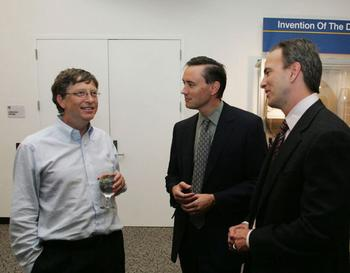 Gates, Stratton and Greg at a reception