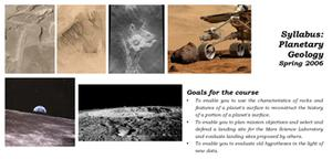 Syllabus for planetary geology course