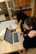 Students running aeromagnetic survey