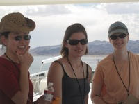 Workshop participants on the boat on Lake Mead