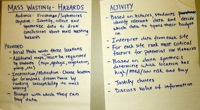 Mass wasting teaching activity idea poster