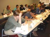 participants writing their course design ideas