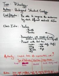 Rheology teaching activity idea poster