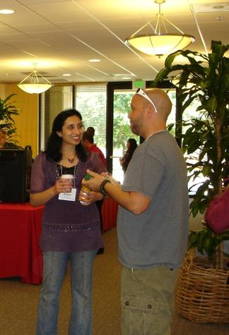 Participants talking during break at Career Prep 2010 Workshop