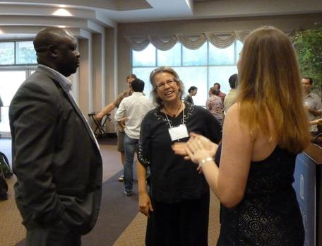 Participants getting to know one another at the 2012 Preparing for an Academic Career workshop