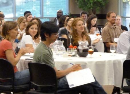 Participants listening at the 2012 Preparing for an Academic Career workshop