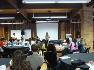 Susan Buhr Sullivan welcomes participants