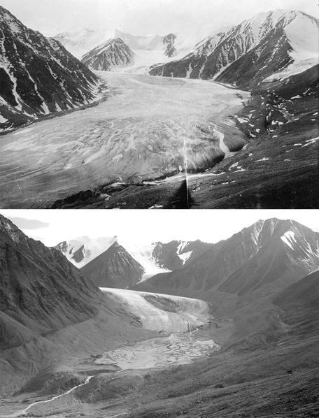 Okpilak Glacier 1907 and 2004
