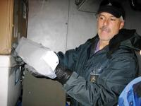 Todd Sowers with ice core