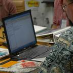 course design workshop 05 participant with computer