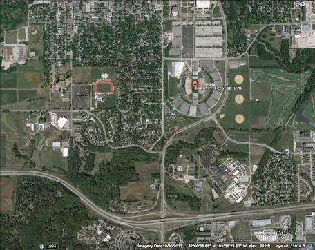Google Earth Image of Area