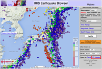 IRIS Earthquake Viewer