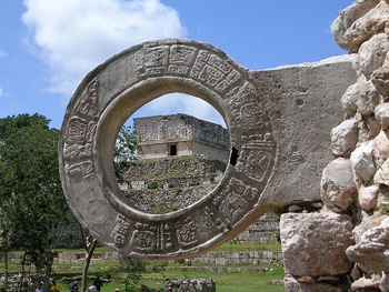 Pok-a-tok goal ring, Mexico