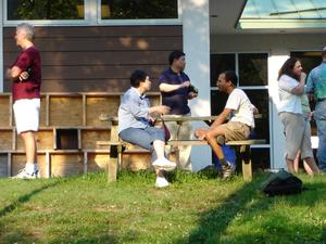 Picnic at the Keck environmental lab, Early Career WS, 2006