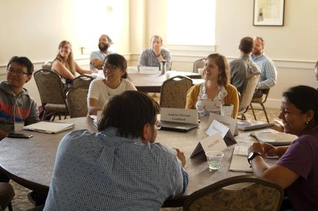 2019 workshop for Early Career faculty in the geosciences. Photo by Carol Ormand.