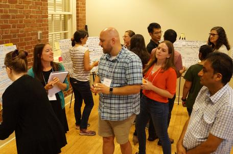 Poster session, 2019 workshop for Early Career faculty in the geosciences. Photo by Carol Ormand.