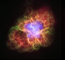 Hubble space telescope image of the Crab Nebula