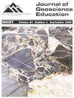 Cover image from the Journal of Geoscience Education showing a Lower Proterozoic migmatite