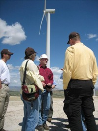 Energy field trip - Seven Mile Hill wind farm 7