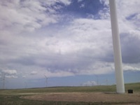 Wind turbine at Happy Jack 3