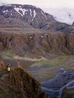view from ridge at Thorsmork, Iceland