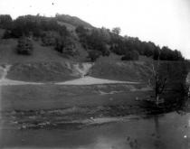 Alluvial fan below gully, Tunbridge, Vermont