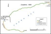 Coastline segmentation – 1908