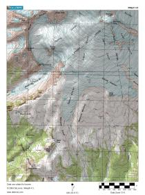 Easton Glacier Topographic map