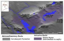 Geomophology of the Onawa Pluton