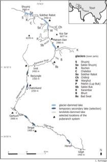 Historical glacier dams in the Karambar valley