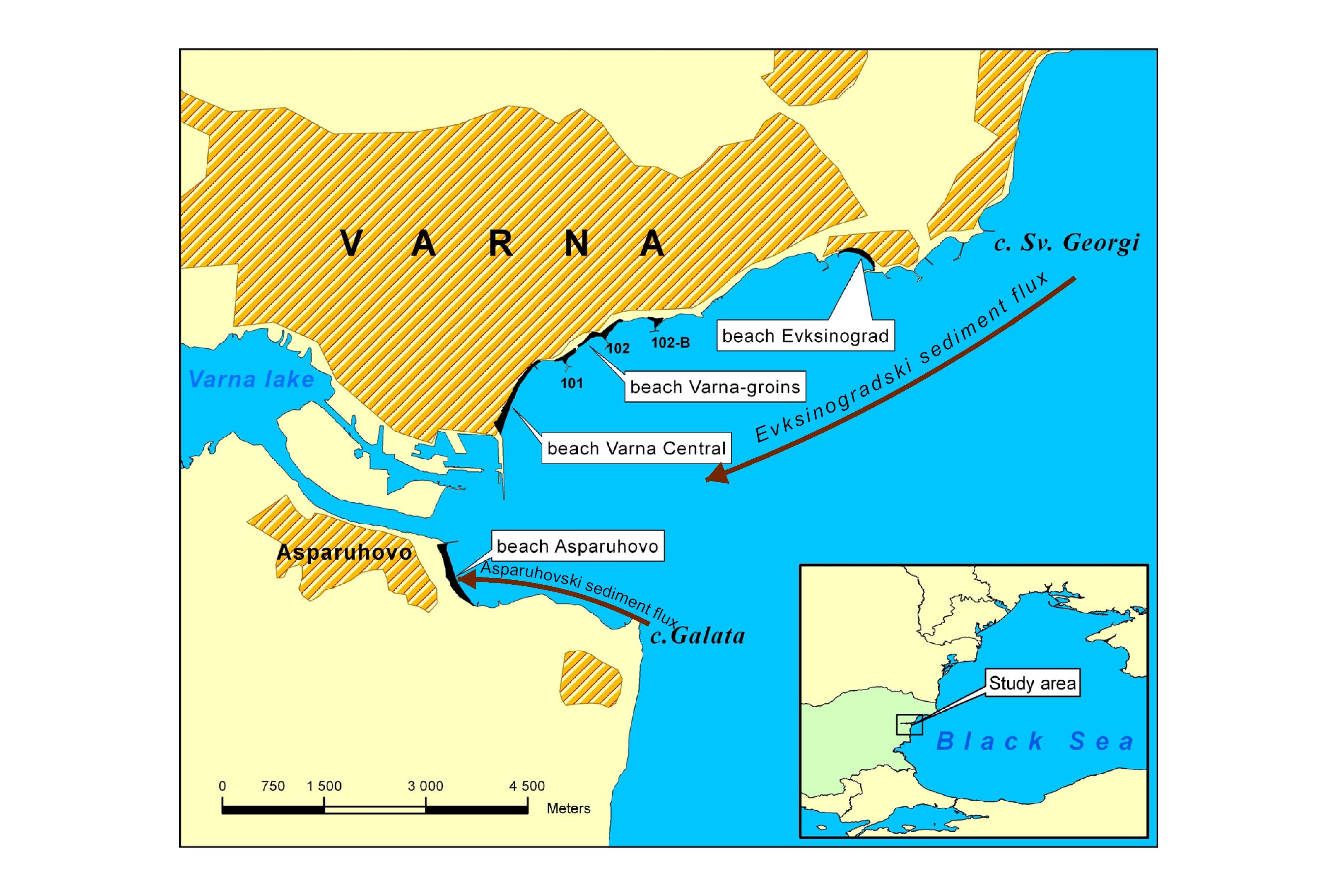Locator Map Of Varna Bay - Varna map