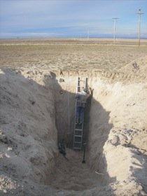Loess excavation