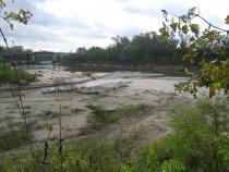 Sediment source below the dam