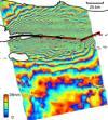 SAR interferogram ground deformation Izmit Turkey quake