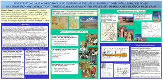 Investigating groundwater-surface water interactions using a multidisciplinary approach involving hydrogeology, geology, and geophysics