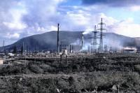 The Monchegorsk smelter Kola Peninsula Russia