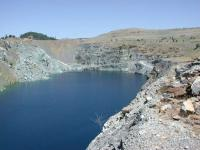 Overview of open pit gold mine